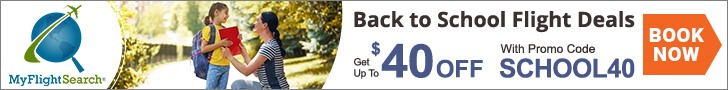 Discount Back to School Flights. Get Extra Saving of up to $40 with SCHOOL40. Book Now!!