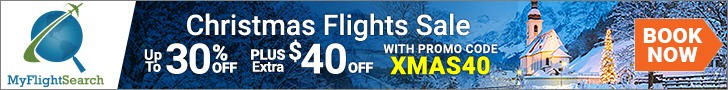 Exclusive Christmas Travel Deals. Save up to $40.00** with promo code – XMAS40