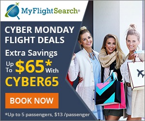 Hottest Cyber Monday Travel Sale . Save up to $65 with Promo Code CYBERM65 Book Now!! Valid 10/30 until 12/2