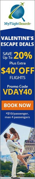 Cheap Valentine's Day Flight Deals. Save up to $22.00** with promo code – VDAY22
